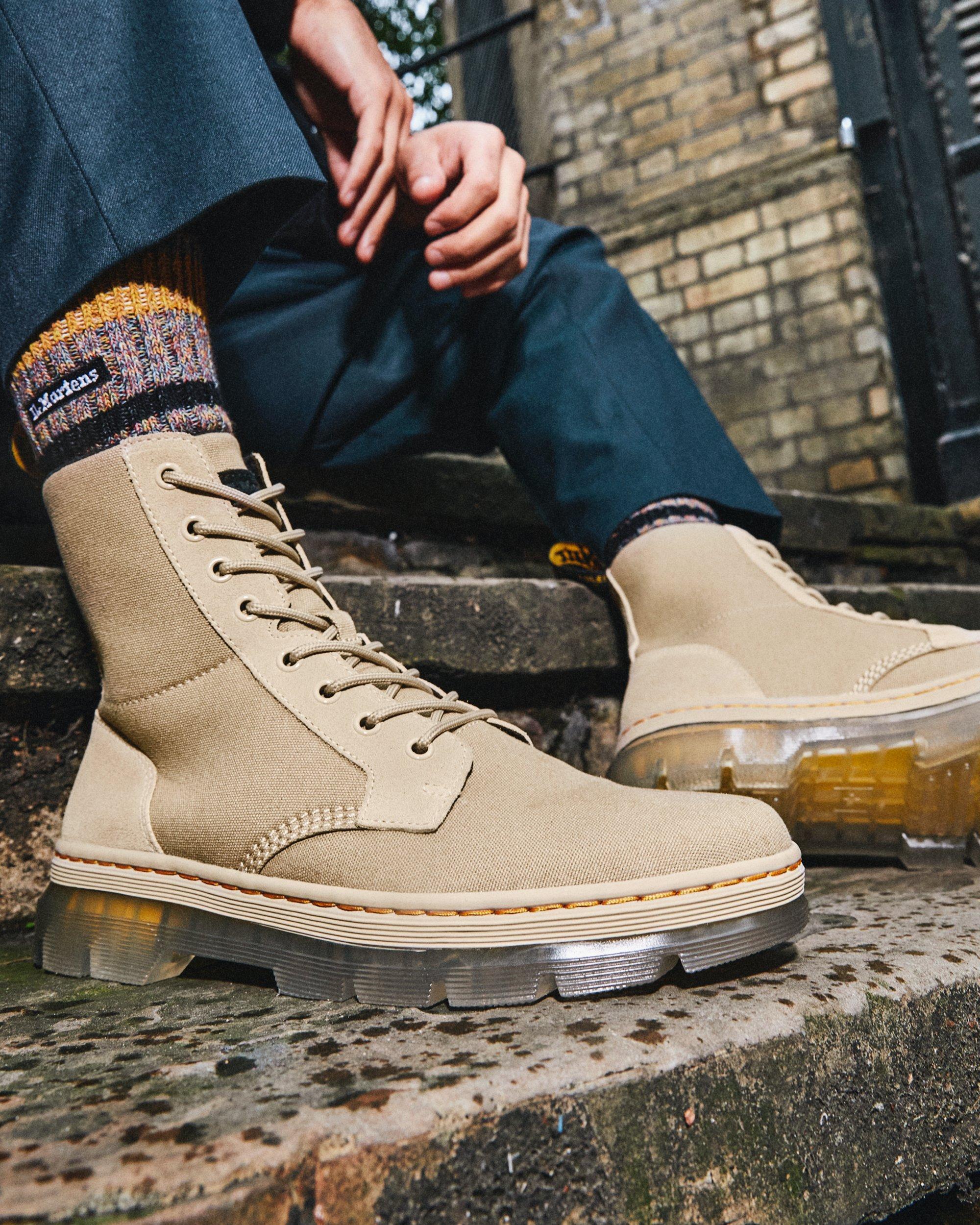 Homme Dr. Martens Boots Utilitaires Combs Ii Iced En Daim  Le Sable | Boots Casual